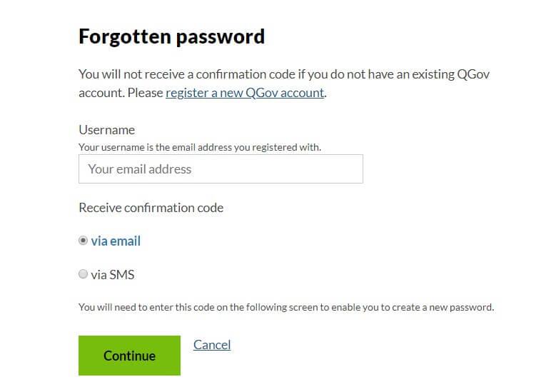 eq forgotten password