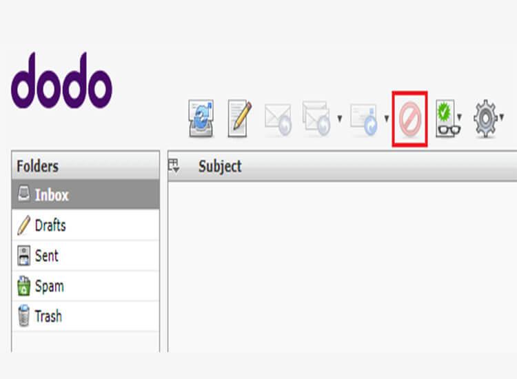webmail delete