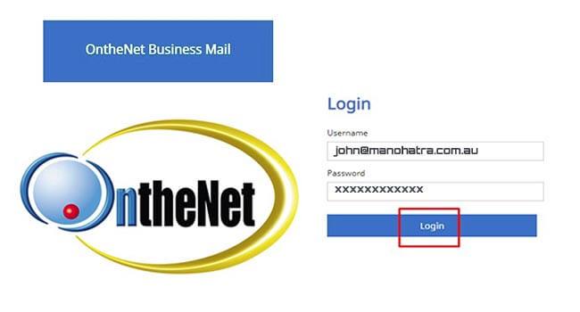onthenet business mail login
