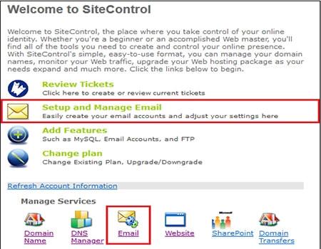 site control login