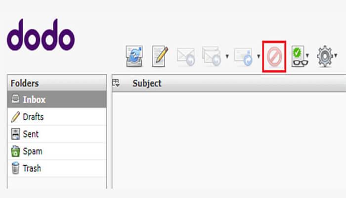 dodo webmail delete