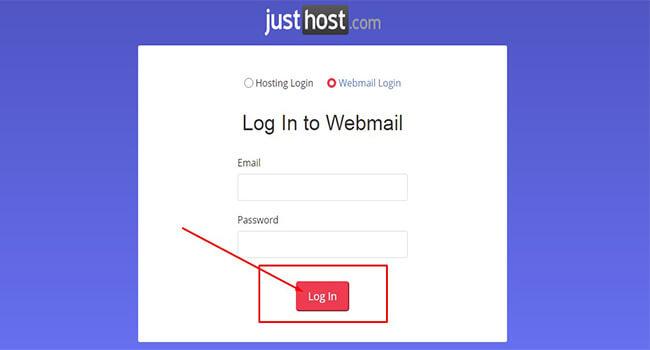 justhost webmail login