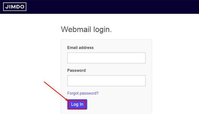 jimdo webmail login